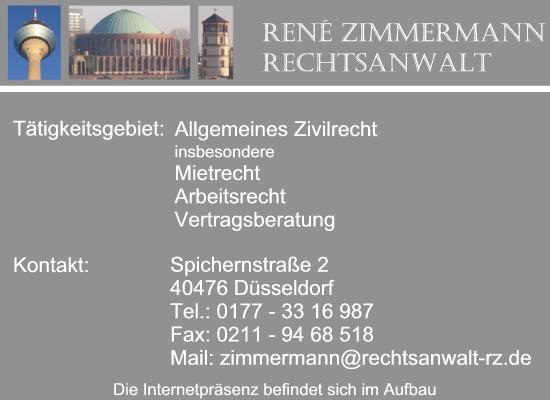 Rechtsanwalt Rene Zimmermann